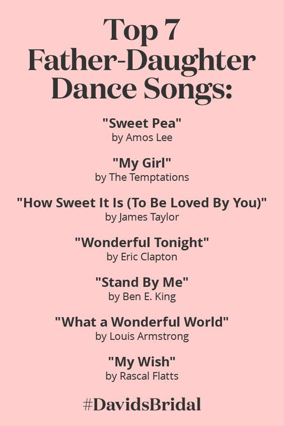 Top Father Daughter Dance Songs David S Bridal Father Daughter Dance Songs Wedding Songs Daughter Songs