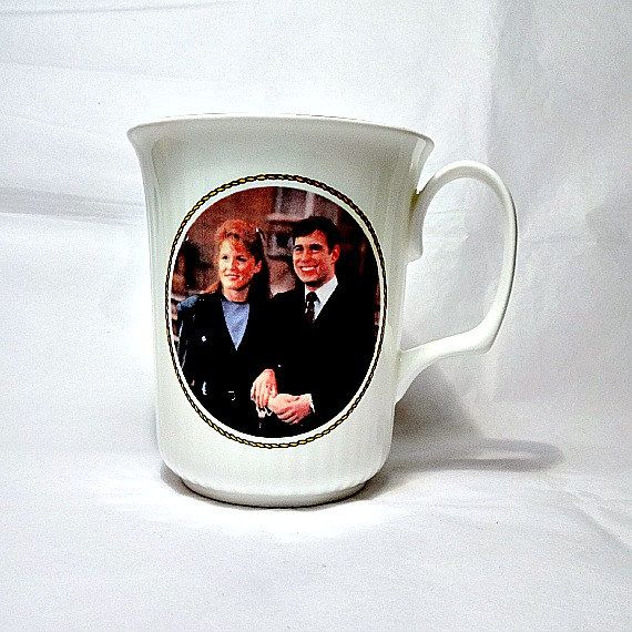 Colclough bone china cup commemorating the 1986 Royal Wedding of Prince Andrew and Sarah Ferguson.