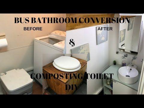 Bus Motorhome bathroom conversion & RV Composting Toilet DIY | Bus ...