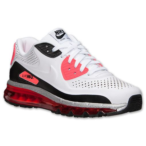 Men's Nike Air Max 90 2014 Running Shoes | Finish Line | White/Infrared/