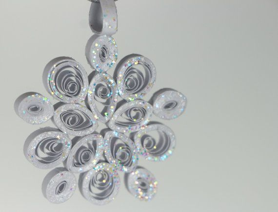 Quilled Mini Snowflake Christmas Tree Ornament by loveinenvelope, $9.00