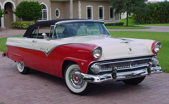 1955 Ford Sunliner Ford Fairlane Car Ford Ford Motor