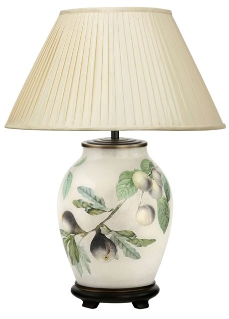 Fig And Plum Medium Oval Table Lamp With Shade Jenny Worrall