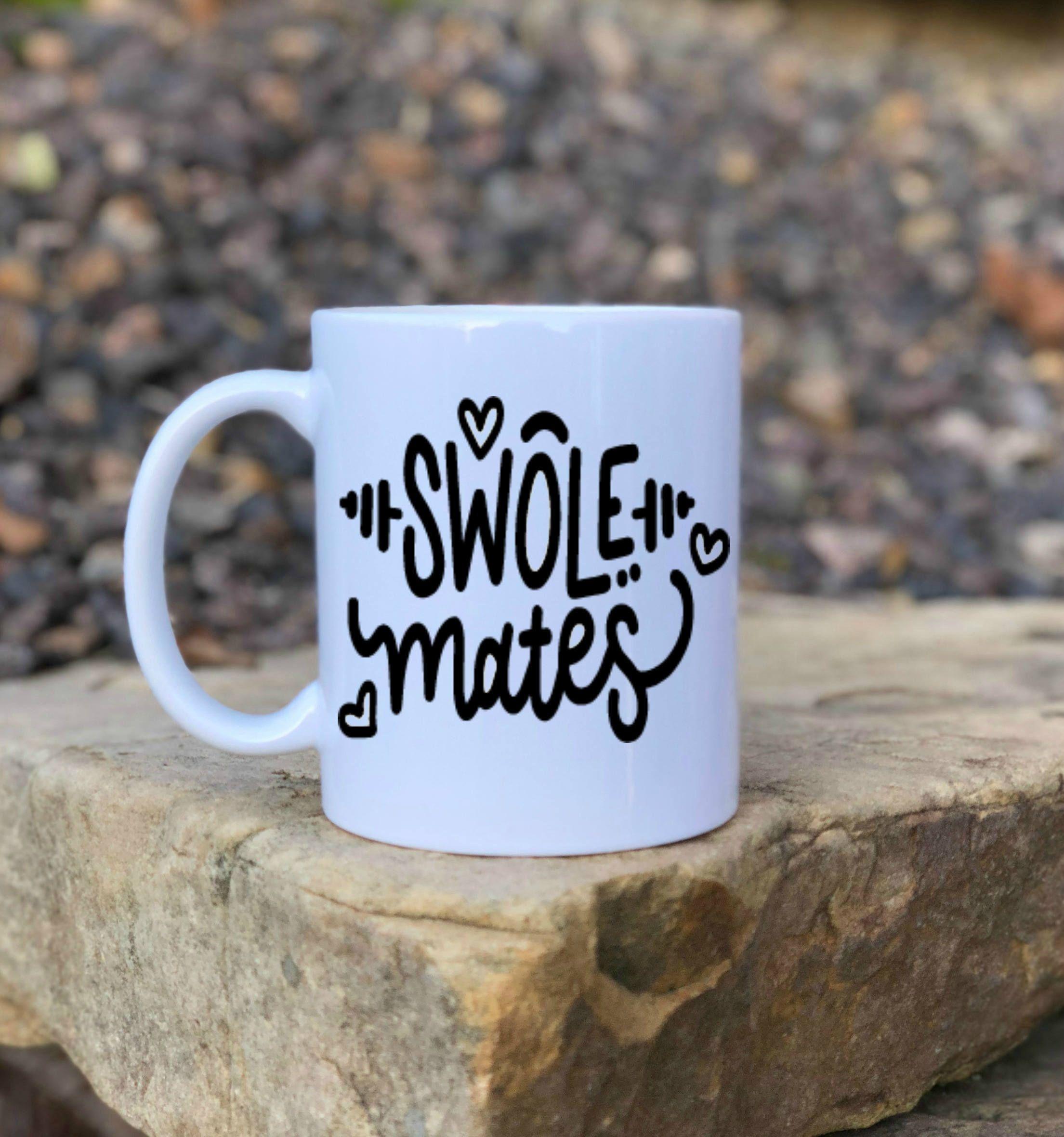 Swole mates, Soul mates coffee mug , Christmas gift, Gift for her ...