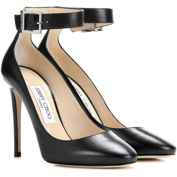 Jimmy Choo Helena 110 Leather Pumps ($695) ❤ liked on Polyvore featuring shoes, pumps, black, leather footwear, black leather shoes, jimmy choo, jimmy choo pumps and jimmy choo shoes