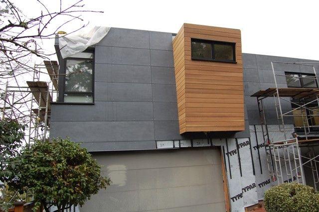 Panel Siding And Cedar Modern Exterior Wood Siding Siding