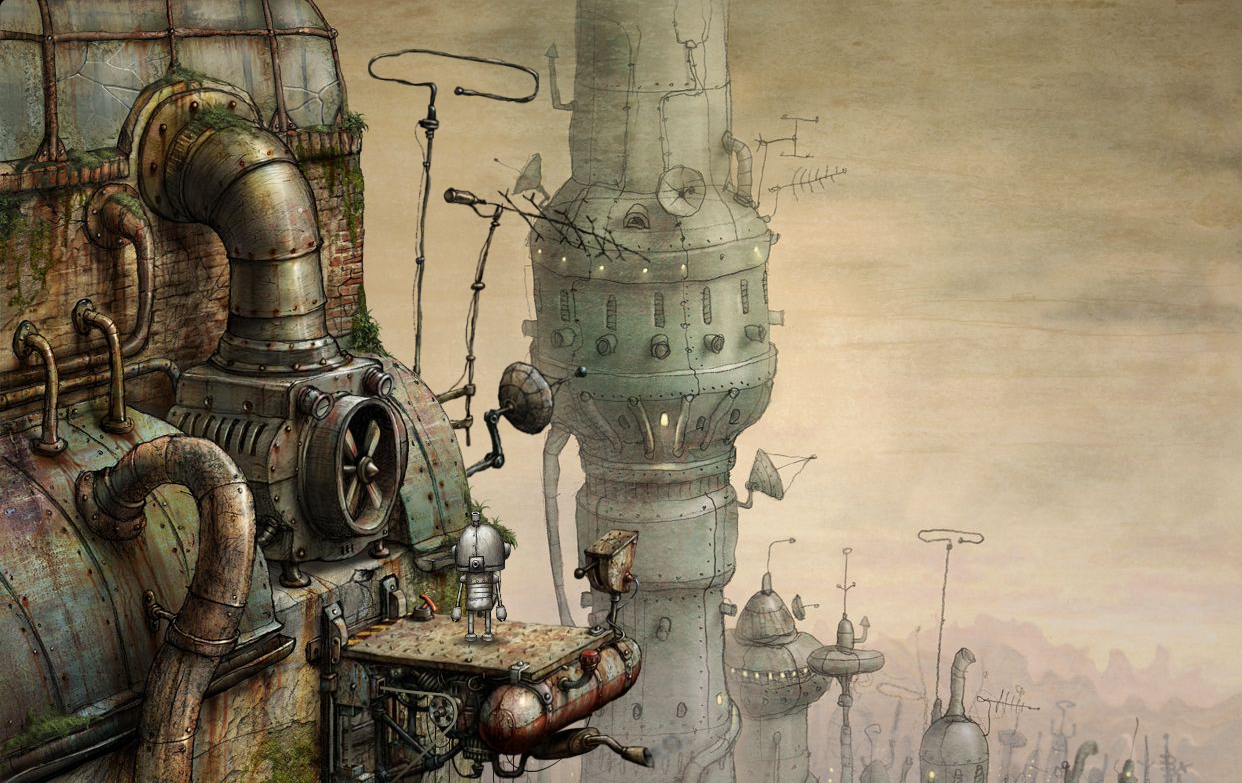 Steampunk Machinarium Indie Art Steampunk Games Concept Art