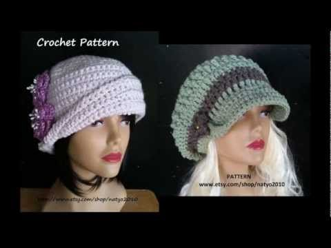 Cloche Hat and Loose Hat CROCHET PATTERN | Crocheted Hats and ...