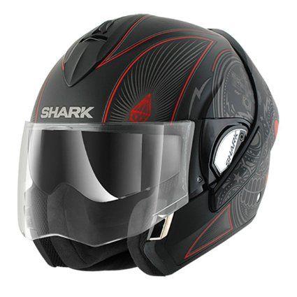 Shark Evoline Series3 Mezkal Mat Helmet Grey Red Black L