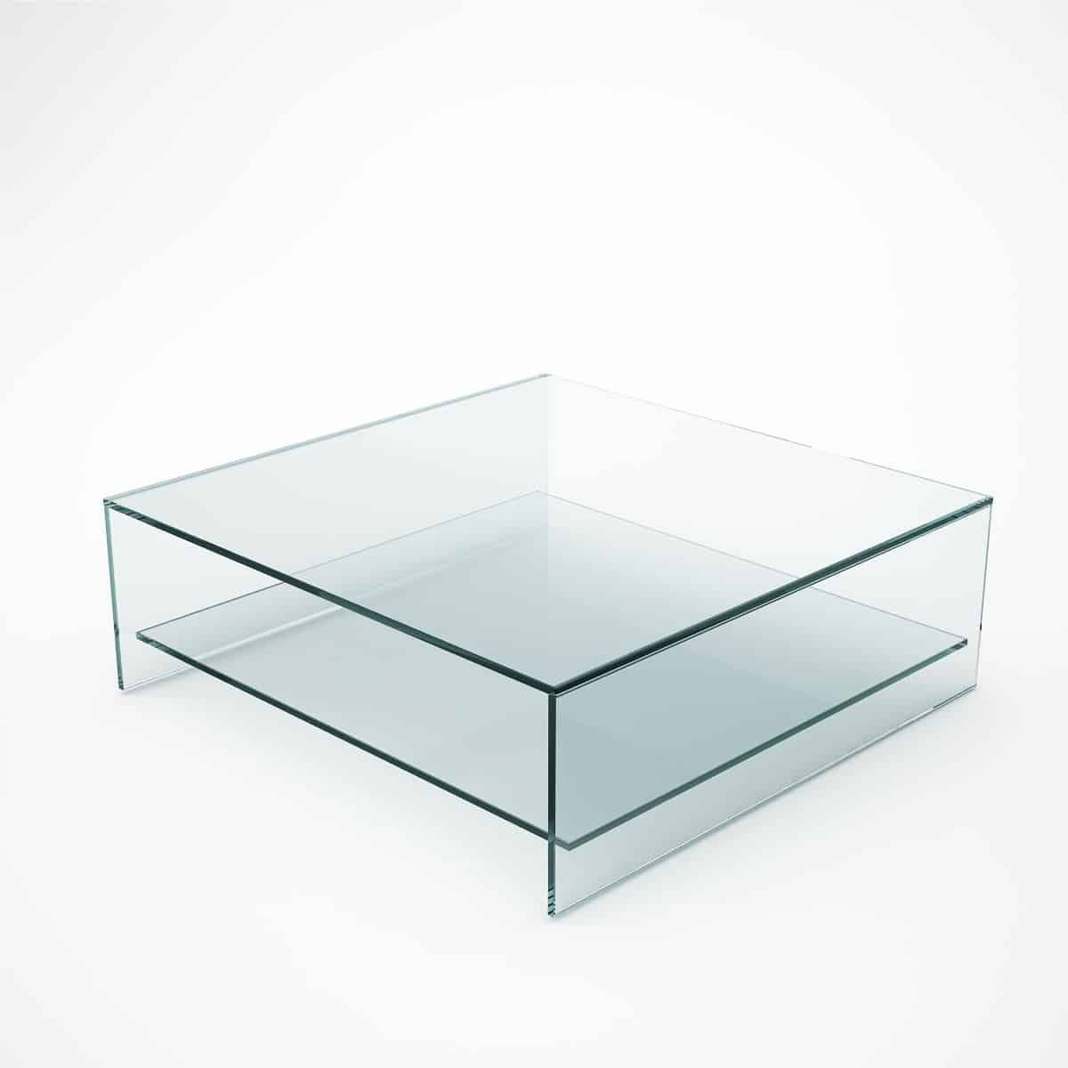 Square Glass Coffee Table With Shelf Square Glass Coffee Table Glass Coffee Table Square Coffee Tables Living Room [ 1200 x 1200 Pixel ]
