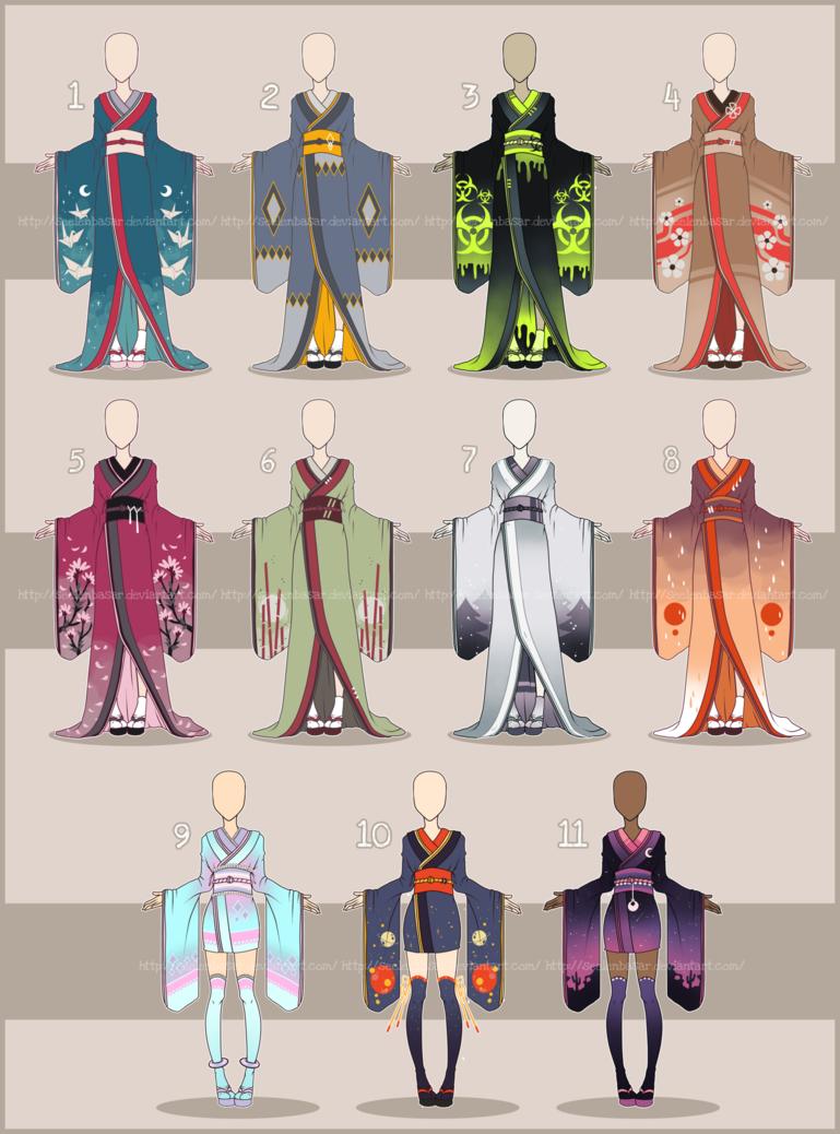 Big Kimono Batch... [Adopts] CLOSED 0/11 by Seelenbasar.deviantart ...