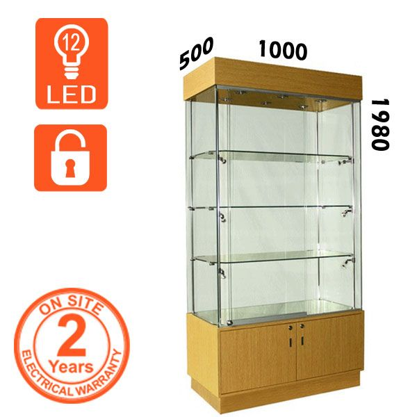 LED Retail Wooden Display Cabinet  Retail Wooden Display