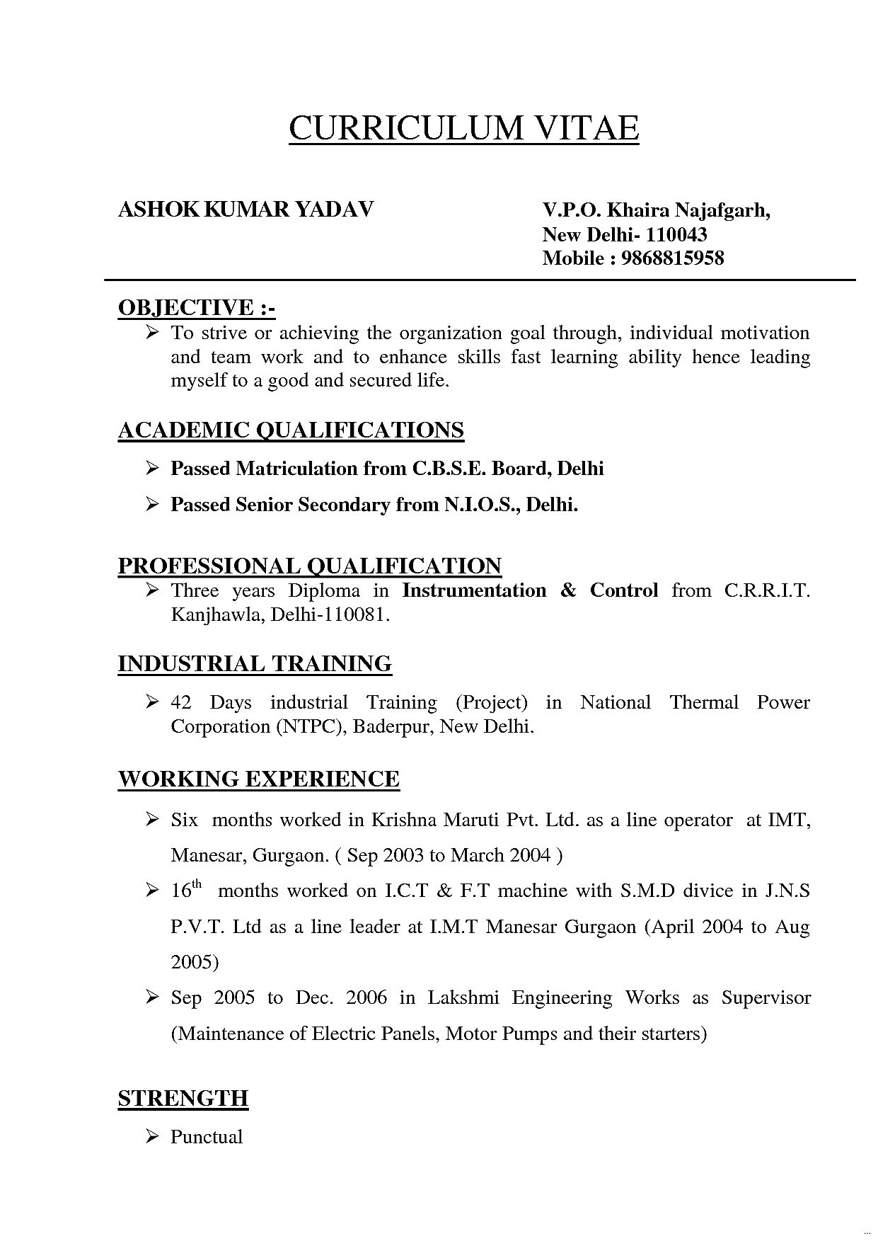 Types Of Resume Templates Resume Format Types Format Resume Types Resume Format