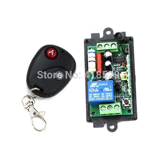 מתג אלחוטי Ac 110 V 220 V 1ch שלט רחוק מערכת מתג 10a Rf 433 Mhz 315 Mhz עבור אור Led מנורת מק ט 5045 Led Light Lamp Wireless Switch Book Lights