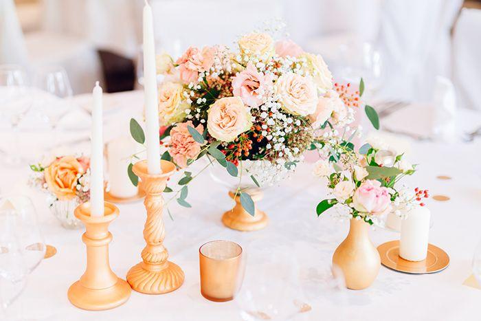 Hochzeit In Gold Und Rosa Gold Wedding Pinterest Wedding