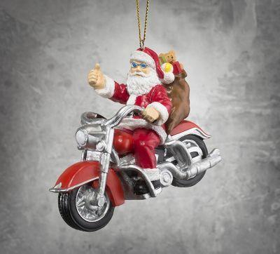 Biker Santa Ornament   Santa ornaments, Harley davidson online