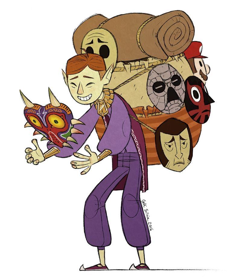 Happy Mask Salesman by SilviaBelli on DeviantArt