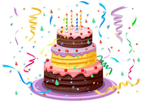 birthday cake with confetti png clipart picture birthday clip rh pinterest com happy birthday chocolate cake clipart happy birthday cake clipart free