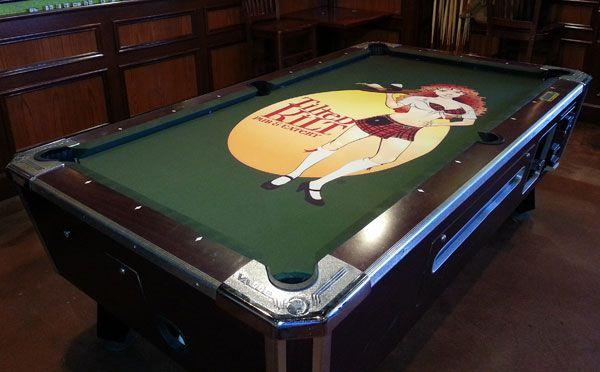 Elegant Titled Kilt Custom ArtScape Pool Table Felt