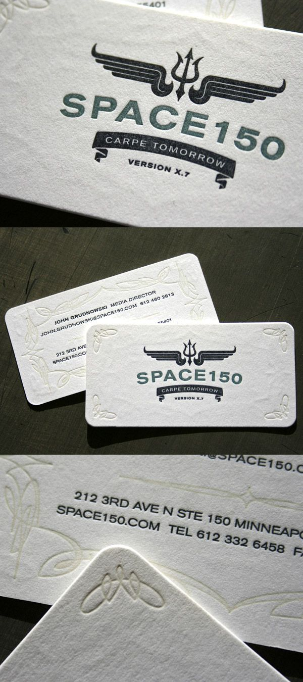 Space 150s v17 letterpress business card logosbranding by jackie space 150s v17 letterpress business card reheart Image collections