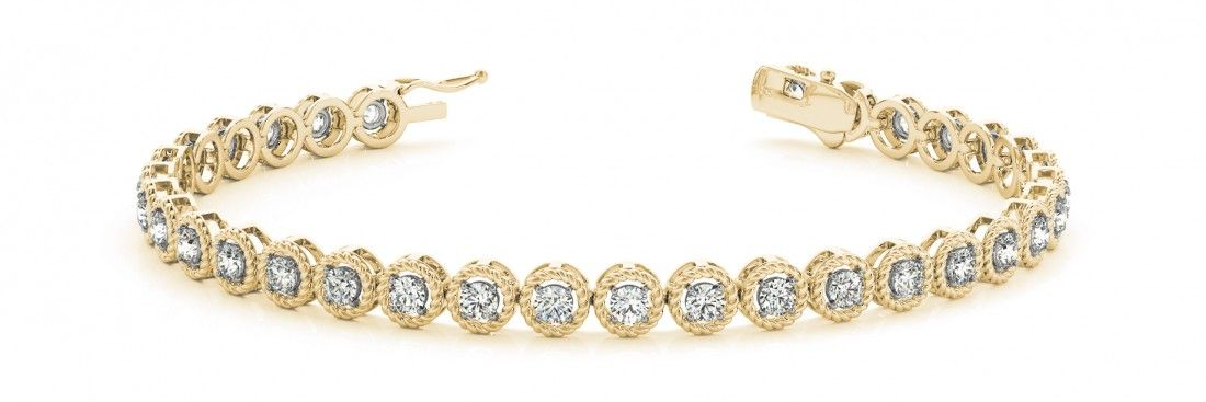 STYLE# 70499 - Prong Set - In Line - Bracelets