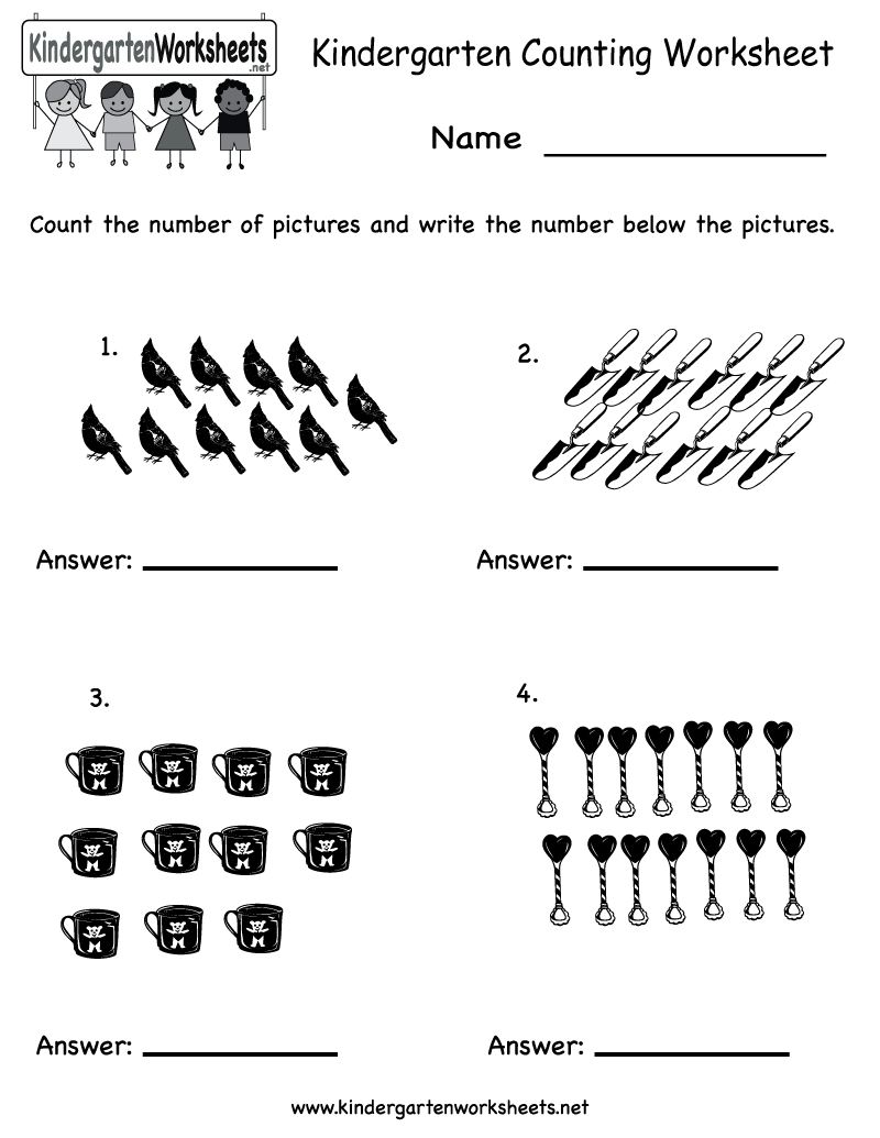 Worksheets Kindergarten Math Worksheets Printable 1000 images about kindergarten math worksheets on pinterest back to number and counting