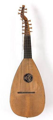 Swedish Theorbo, the Svensk-luta, it's body is very close to a Tielke lute outline, converted to a swedish theorbo by Jerner stockholm 1792. It's body has a inscription by DuB[ut], french lutenist. Most swedish theory's after this one had cittern shaped bodies, so this instrument is possibly the last theorbo-lute made and played before the lute revival by Arnold Dolmetch in the late 1890's.