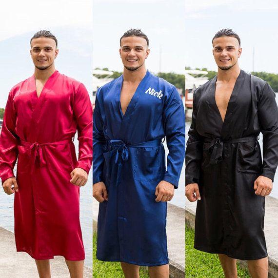 03c754ee6e SALE Personalized Men s Satin Robe