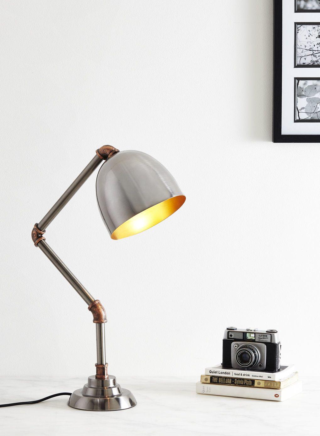 Hugo Piped Task Lamp   Vintage Curiosity   Home, Lighting U0026 Furniture   BHS  £