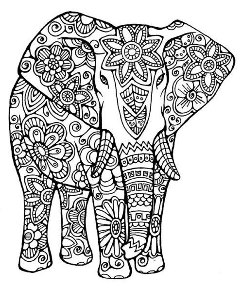 Pin By Sdwink On Printables Mandala Coloring Pages Elephant