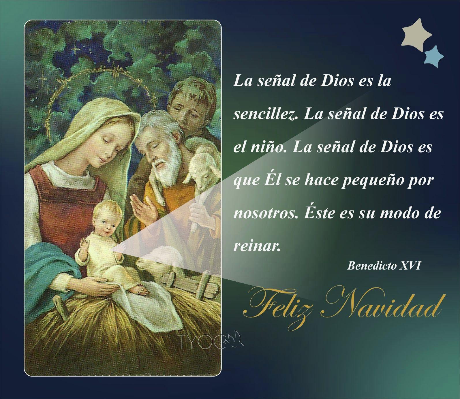 Tarjetas y oraciones catolicas tarjetas navide as con - Mensajes para felicitar la navidad ...