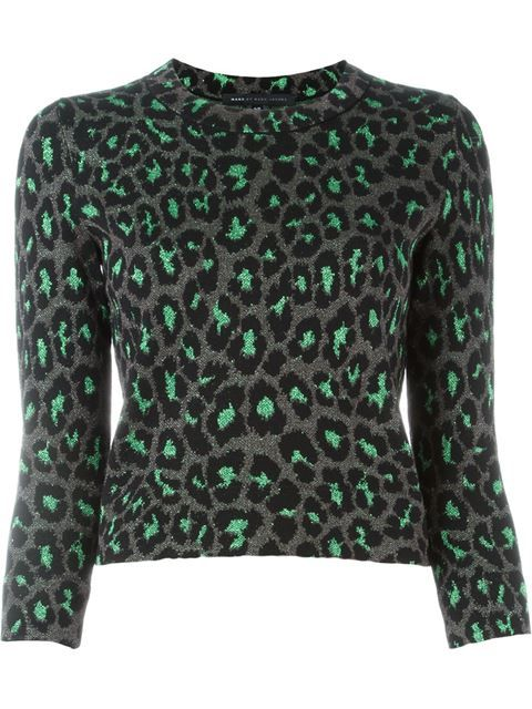 be6242e0c685 MARC BY MARC JACOBS Leopard Knit Sweater. #marcbymarcjacobs #cloth #sweater