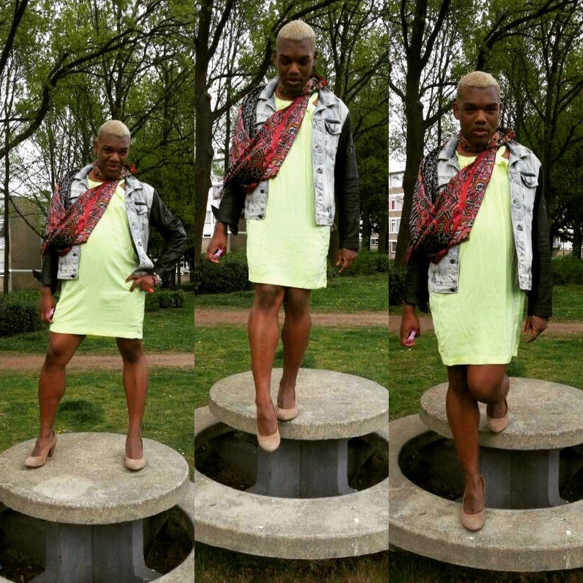 Transgender shemale dragqueen diva model H&M Zara