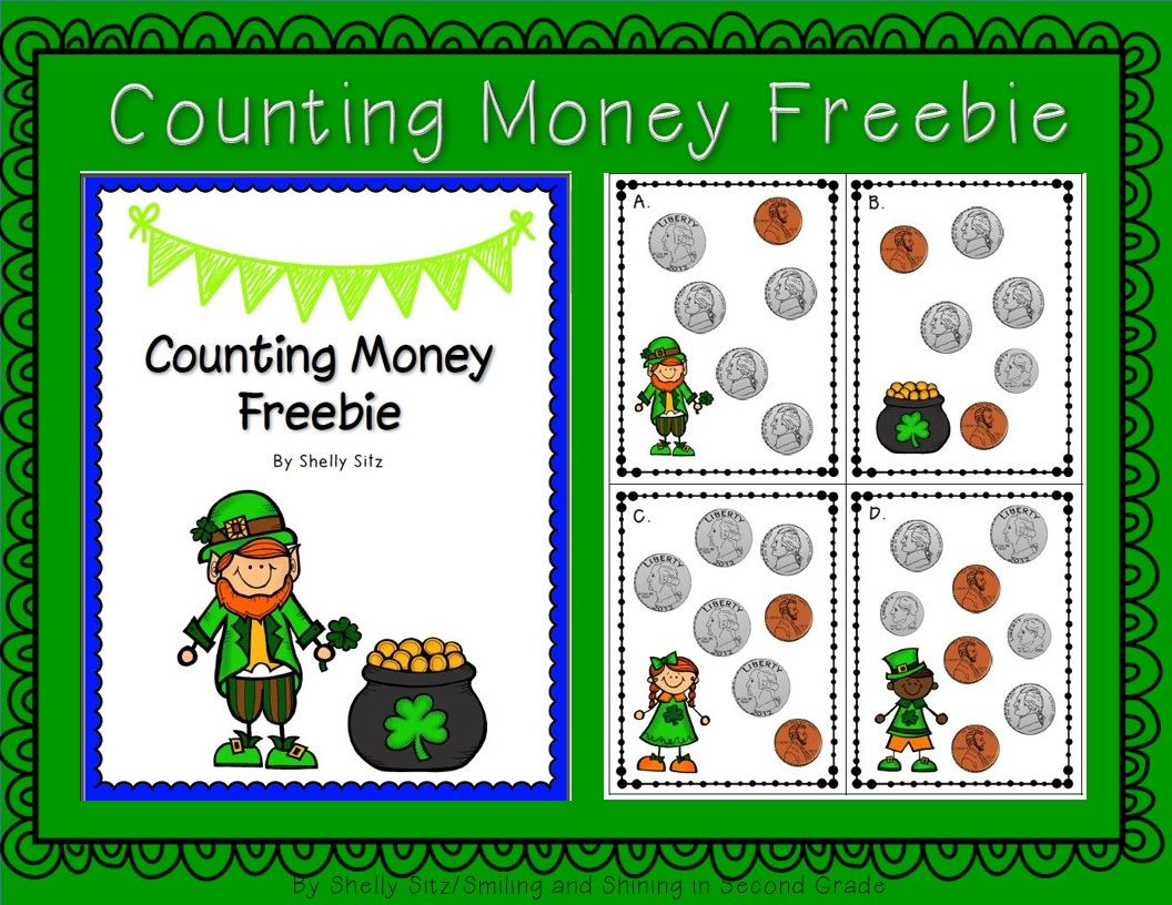 Free St Patrick S Day Counting Money Center 2 Md 8 Solve Word Problems Involving Dollar Bills