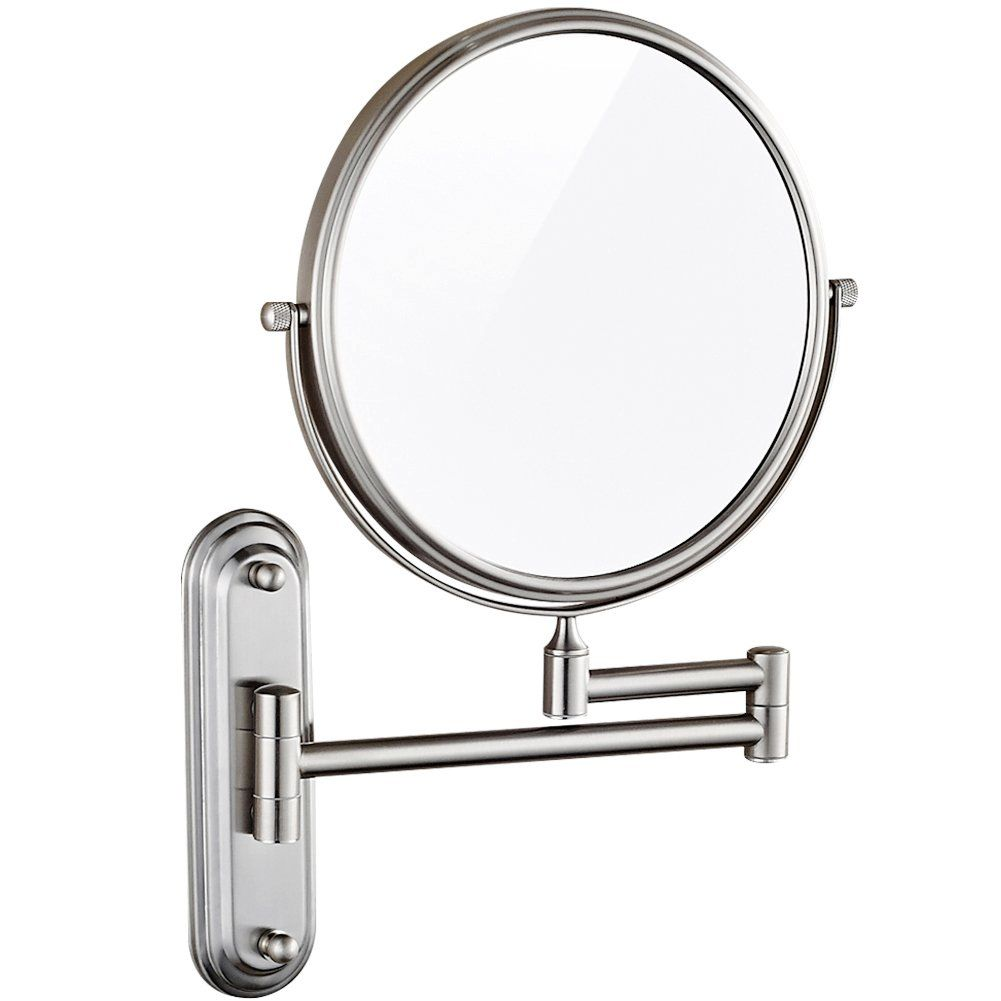 Gurun Wall Mount Magnifying Mirror Brushed Nickel Finish With 10x Magnification8inch Twosided Swivel M1206n8in10x Cli Magnifying Mirror Mirror Nickel Finish