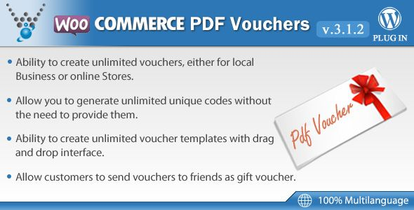 Download Free WooCommerce PDF Vouchers WordPress Plugin 312 - create a voucher