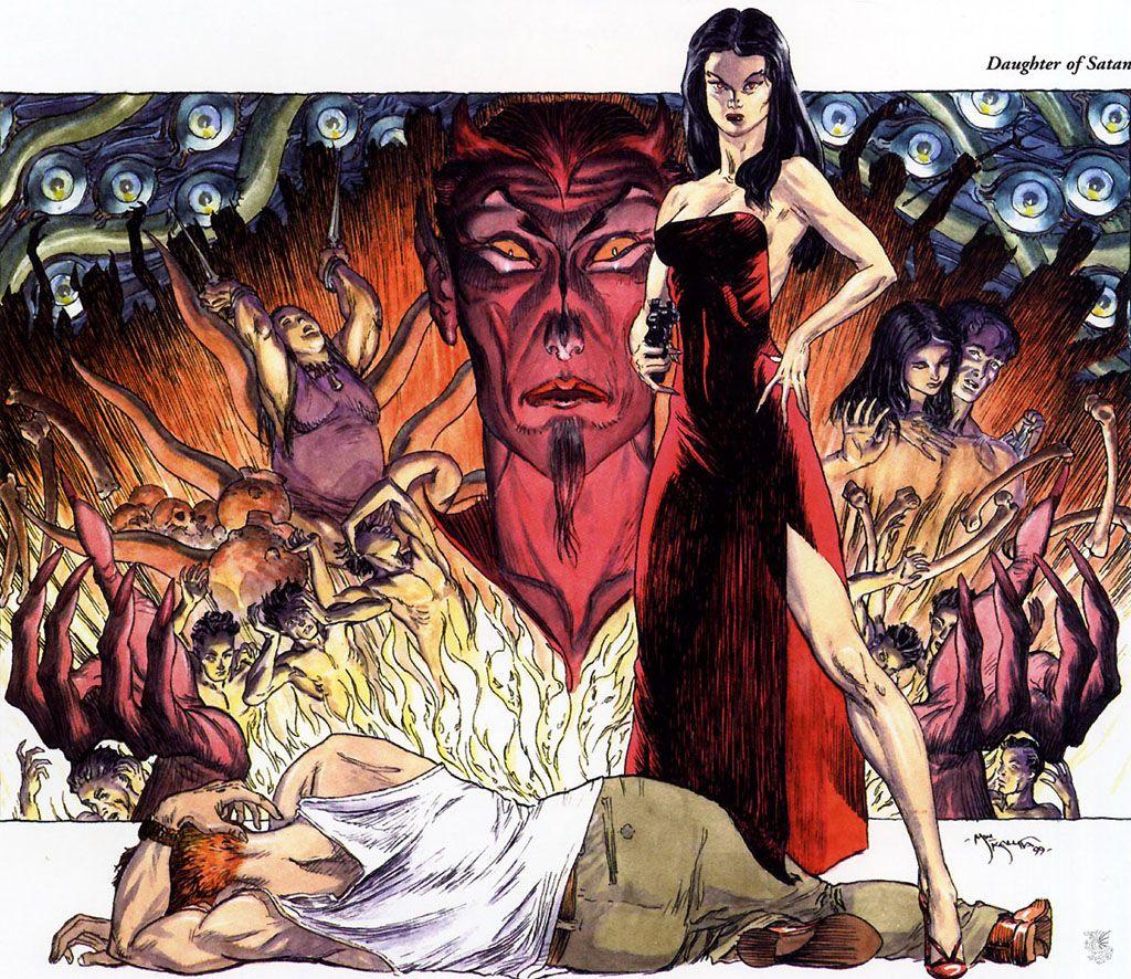 Daughter Of Satan//Michael William Kaluta/K/ Comic Art