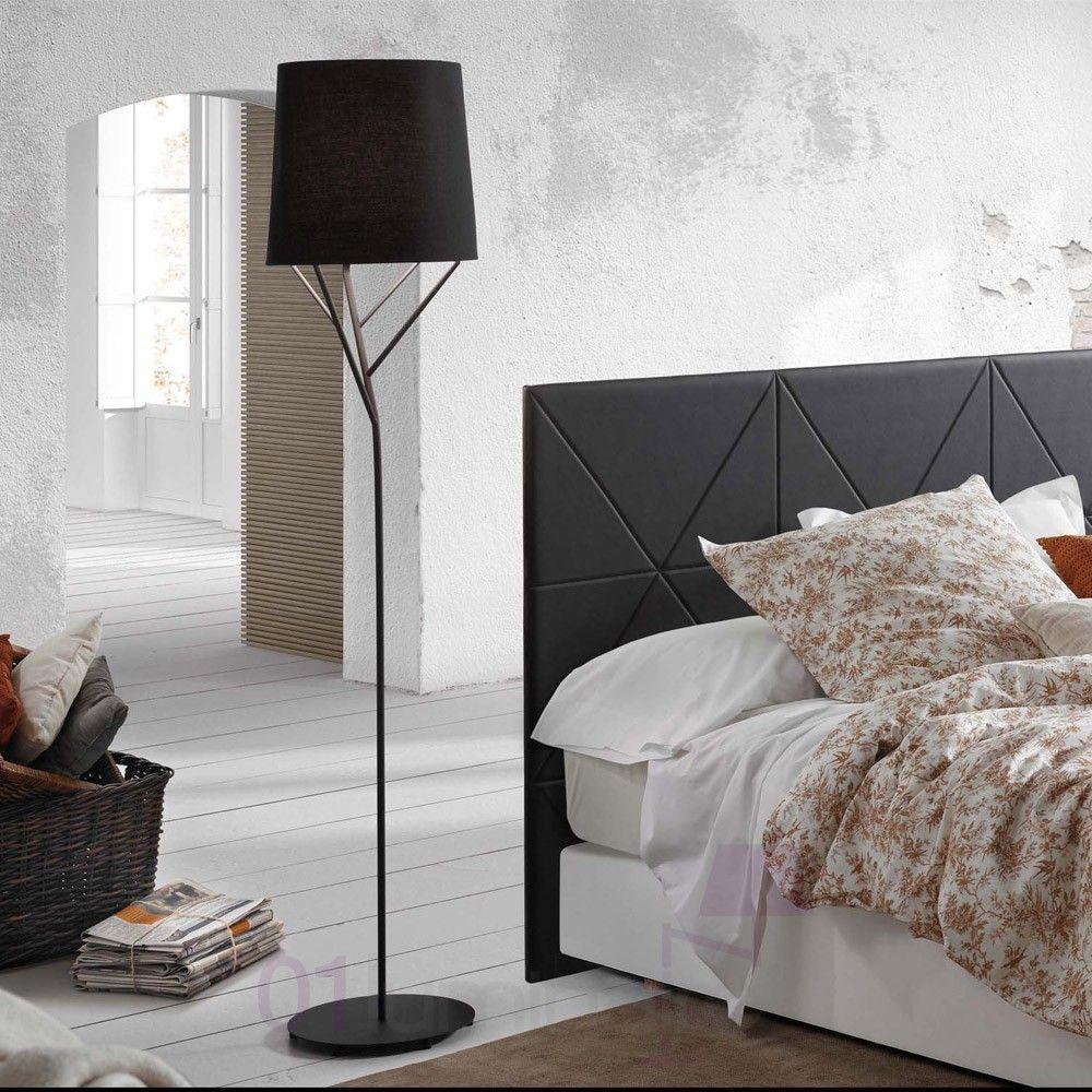 Lampadaire Arbre Lampe sur pied H167 5 cm Noir