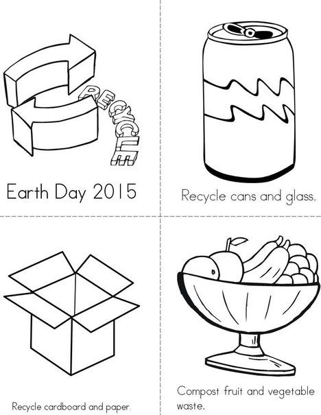 Recycle And Compost Mini Book Worksheets For Kids Earth Day Coloring Pages Fun Worksheets For Kids