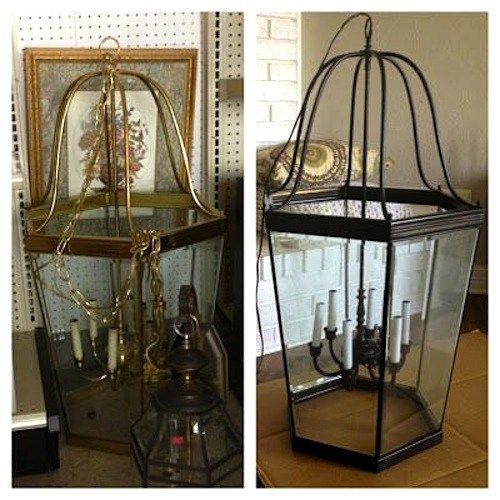 20 Reuse Ideas for Dated Brass and Glass Chandeliers | Brass