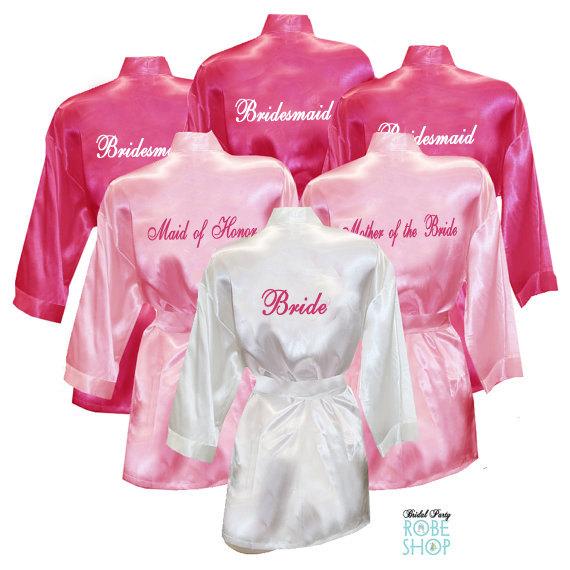 Custom Satin Robes Personalized Satin Robes Wedding Robes Team Bride Robes Bridesmaid Robes Satin Robe Customize Robes Gift For Bridesmaid