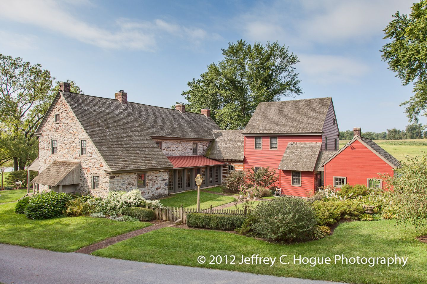 Great Berks County Farmhouse Located In The Rich Oley Valley For Sale At Jeffreyhoguerealtor Com Farmhouse Exterior Colonial Farmhouse Farmhouse Landscaping