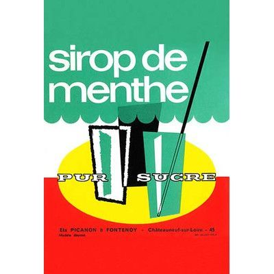 Buyenlarge 'Sirop De Mente' Vintage Advertisement