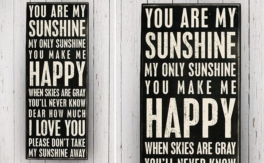 Box Sign, Inspirational Signs, You Are My Sunshine Sign