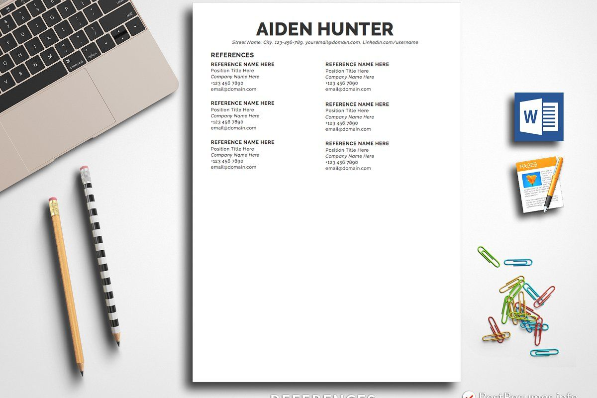 Simple Resume Template Pages & Word in 2020 Substitute