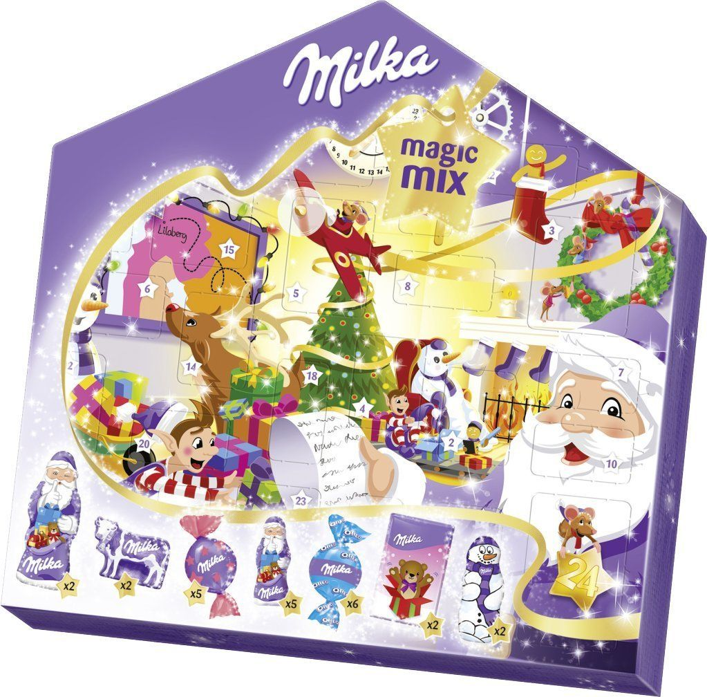 Milka Weihnachtskalender.Milka Magic Mix Advent Calendar Filled With Delicious Milka