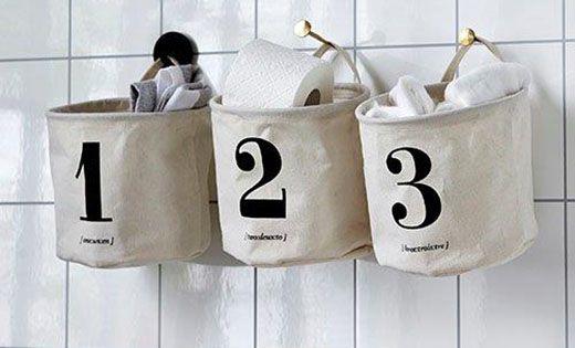 Smarte opbevarings poser fra House Doctor til ting og sager på badeværelset, entreen eller andre rum
