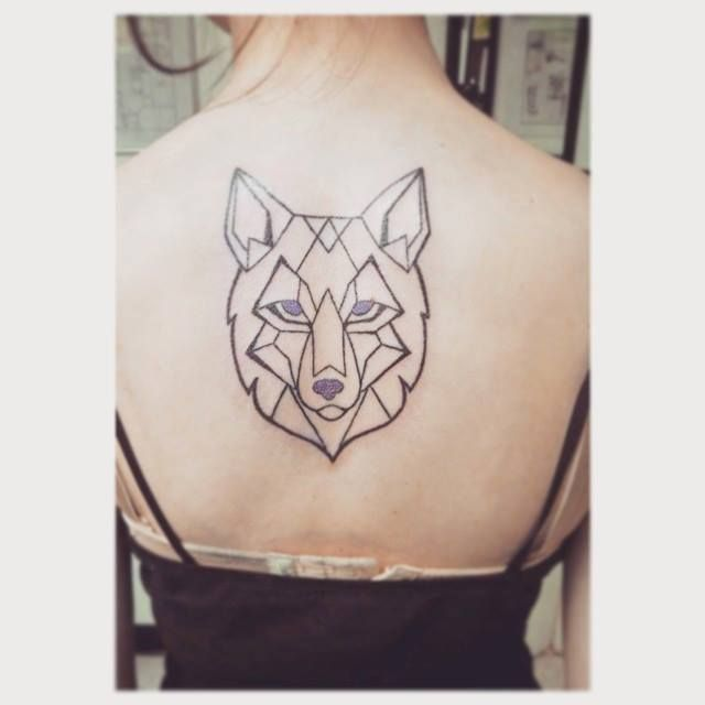 Geometric Wolf Tattoo By Indiavaughndeviantartcom On At Deviantart