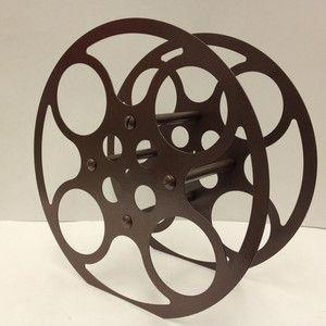 16mm Film Reel Wine Rack Brown now featured on Fab.