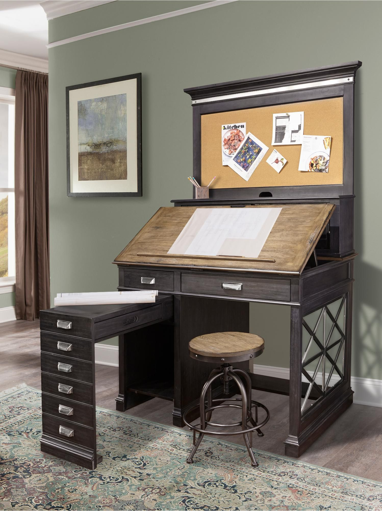 Two Tone Urban Architects Drafting Desk  Lincoln Park